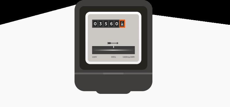analoge meter energiemeter illustratie