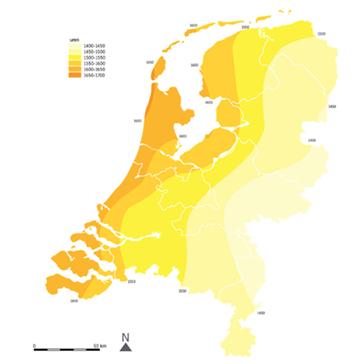 overzicht zonuren nederland landkaart
