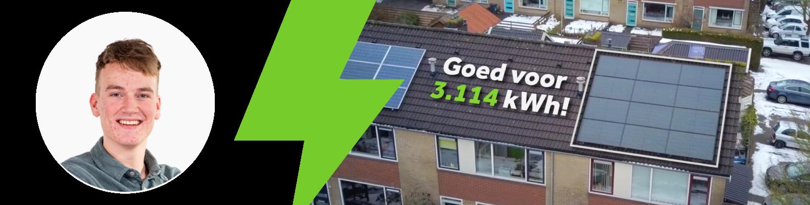 zonnepanelen op het dak van de winnaar vriendenactie 2020