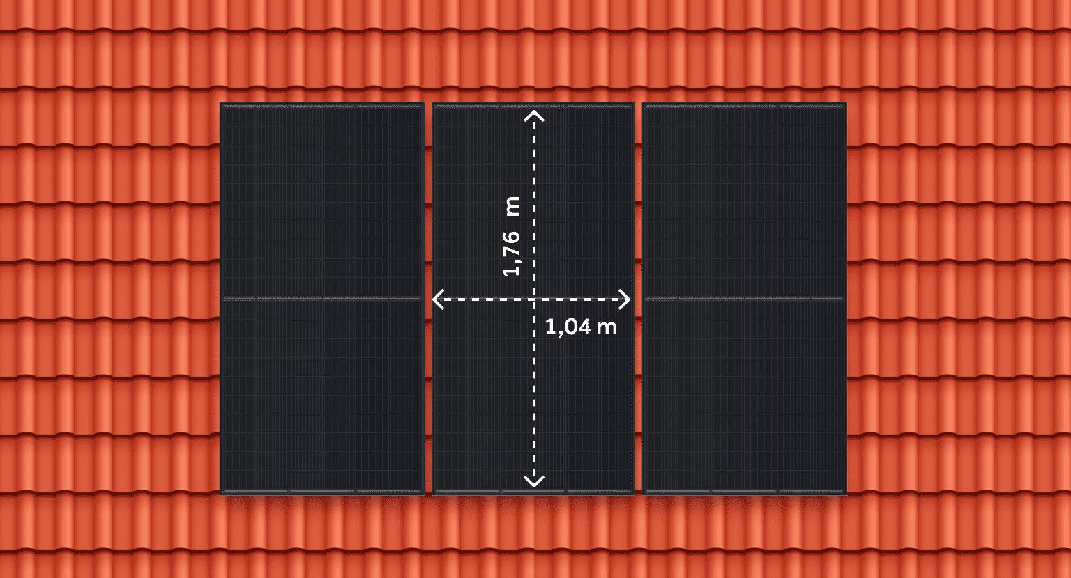 Afmeting zonnepaneel